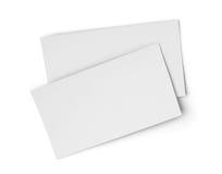 Hojas de papel en blanco blancas Imágenes de archivo libres de regalías
