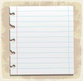 Hojas de papel, papel alineado y papel de nota Imágenes de archivo libres de regalías