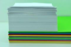 Hojas de papel reveladas Imagen de archivo