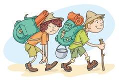 Hojas de ruta (traveler) ilustración del vector