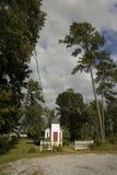 Hojas de ruta (traveler) capilla, estacionamiento de Myrtle Beach w imagen de archivo libre de regalías