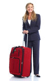Hojas de ruta (traveler) de la mujer de negocios fotografía de archivo libre de regalías