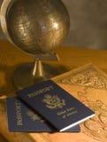 Hojas de ruta (traveler) de mundo 2 Fotos de archivo libres de regalías