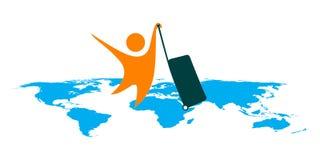 Hojas de ruta (traveler) de mundo Foto de archivo libre de regalías