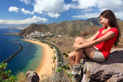 Hojas de ruta (traveler) de Tenerife Imágenes de archivo libres de regalías