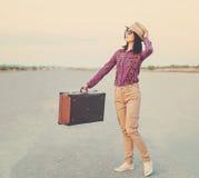 Hojas de ruta (traveler) felices Fotografía de archivo libre de regalías