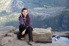 Hojas de ruta (traveler) femeninas fotos de archivo libres de regalías