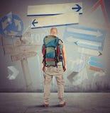 Hojas de ruta (traveler) perdidas stock de ilustración