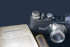 Hojas de ruta (traveler) ricas a Normandía Francia Fotos de archivo libres de regalías