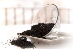 Hojas de té del gris del conde Foto de archivo