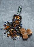 Hojas de té flojas Fotos de archivo