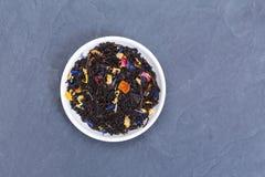 Hojas de té flojas Fotos de archivo libres de regalías