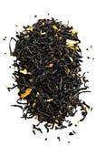 Hojas de té negras Fotos de archivo