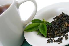 Hojas de té secadas Fotografía de archivo libre de regalías