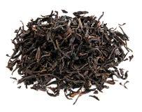 Hojas de té secadas flojas del té negro fotografía de archivo