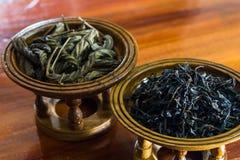 Hojas de té secas Imagen de archivo libre de regalías