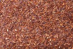Hojas de té secas de los rooibos como textura para el fondo Imagen de archivo libre de regalías