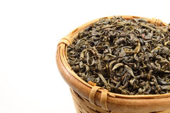 Hojas de té verdes Fotografía de archivo libre de regalías