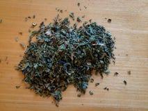 Hojas de té verdes Imagen de archivo