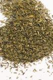 Hojas de té verdes secas Foto de archivo