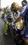 Hojas de Valentino Rossi para Ducati Foto de archivo