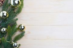 hojas del abeto del fondo de la Navidad Fotografía de archivo libre de regalías