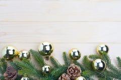 hojas del abeto del fondo de la Navidad Foto de archivo
