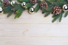 hojas del abeto del fondo de la Navidad Foto de archivo libre de regalías