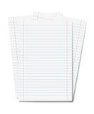 Hojas del cuaderno aisladas Fotos de archivo libres de regalías