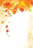 Hojas del fondo/del oro del otoño ilustración del vector