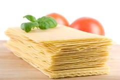 Hojas del Lasagna Imagenes de archivo