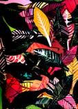 Hojas del otoño, gráficos 2 Foto de archivo libre de regalías