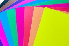 Hojas del papel coloreado Fotografía de archivo