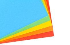 Hojas del papel del color fotos de archivo libres de regalías