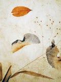 Hojas embutidas en rústico ilustración del vector