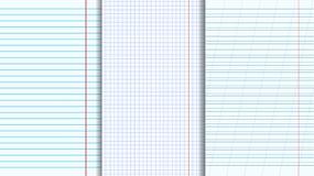 Hojas en blanco de los libros de la copia fijadas Ilustración del Vector