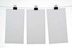 Hojas en blanco del papel Foto de archivo