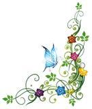 Hojas, flores Fotografía de archivo libre de regalías