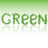 hojas, imagen 3D, verde ilustración del vector