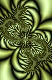 Hojas metálicas del fractal Fotografía de archivo libre de regalías