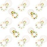 Hojas multicoloras en un blanco Fotos de archivo libres de regalías