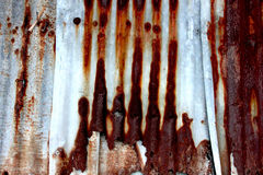 Hojas oxidadas del cinc Imagenes de archivo