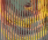 Hojas pintadas decorativas de los paneles Papel pintado te?ido ambarino Pinturas secas polvorientas en superficie Ilustraciones a stock de ilustración