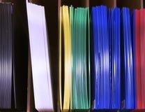 Hojas plásticas acanaladas Fotografía de archivo libre de regalías