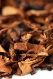 Hojas secas del tabaco fotografía de archivo libre de regalías