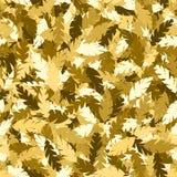 Hojas simples del oro del modelo Foto de archivo