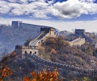 Hojas teles de la Gran Muralla de China fotografía de archivo