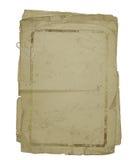 Hojas viejas del papel atadas con un clip Fotografía de archivo
