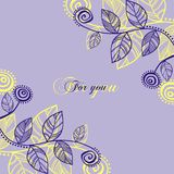 Hojas violetas Fotos de archivo libres de regalías