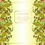 Hojas y fruta de las habas Diseño de tarjeta floral abstracto del verano Imagenes de archivo